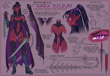 Dark Rilrae Character Design 2 by ladyofdragons