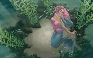 Aislin Mermaid Wallpaper by ladyofdragons