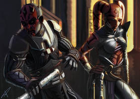 Darth Maul and Darth Talon by DarthPonda