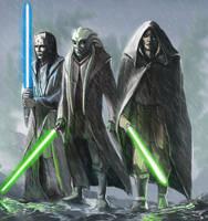 Star Wars - Jedi Masters by DarthPonda