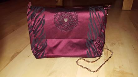 burgundy handbag by 3D-Fantasy-Art