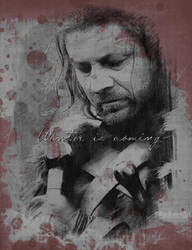 Eddard Stark I  Winter is coming by TheRavenArt