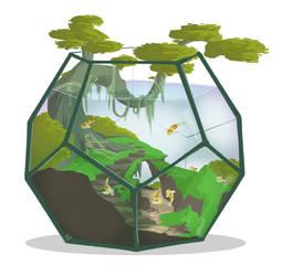 another bonsai fishbowl by Lady-Darkstreak