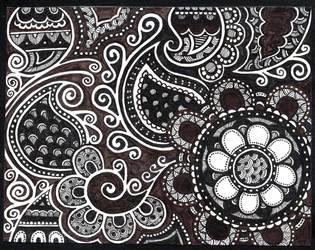 Dark doodle-swirly-abstract by yael360