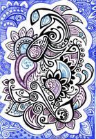 Doodle: ink + watercolor by yael360