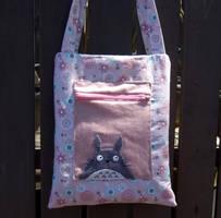 Pink totoro handbag by yael360