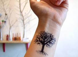 Lonely Tree tattoo by yael360