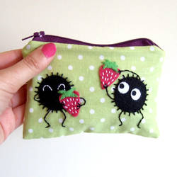 Soot love strawberries pouch by yael360