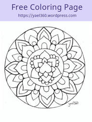 Mandala coloring page by yael360