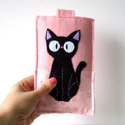 Jiji black cat smart phone case by yael360