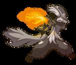 Ginko the Delphox by BlakkFox