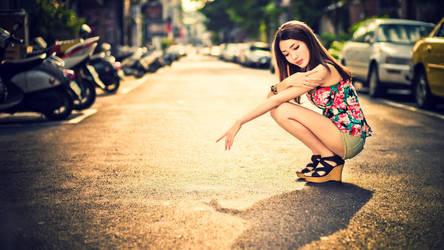 Beautiful-asian-girl-city-hd-wallpaper by salsid