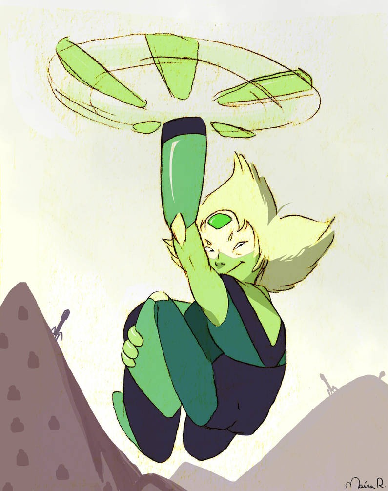 Just a quick sketch of peridot pericoptering tumblr post: anomalia-magnetica.tumblr.com/…