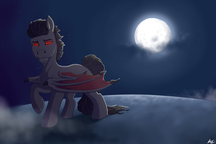CM - Vampire in the moonlight by Ehnala