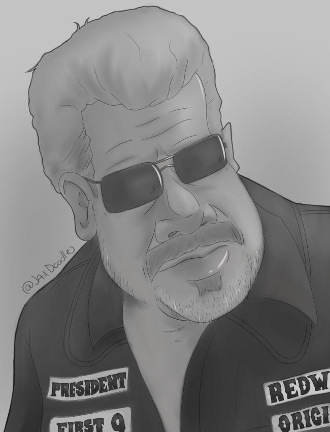 Sons Of Anarchy Clay Morrow Cartoon Portrait By Jaxillustrations On