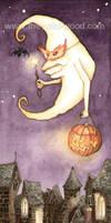 Moon Goes Trick-or-Treating by WildWoodArtsCo