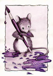 Inky- Blot Mouse by WildWoodArtsCo