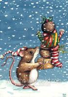Christmas Shopping by WildWoodArtsCo