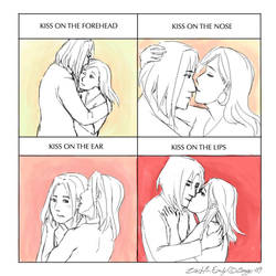 Meme: 4 cute kisses by Zeggolisko