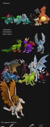 Spore creations 2017-2018 by Scorching-MoonLight