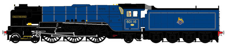 Peppercorn A1 liveries - 60116 Hal O' The Wynd by 2509-Silverlink