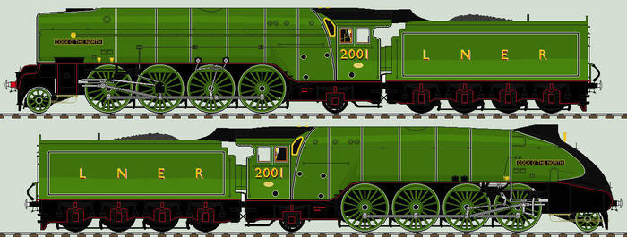 LNER P2 liveries - 2001 'Cock O' The North' by 2509-Silverlink