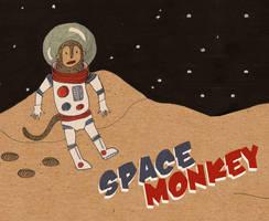Space monkey by Purple-Sun