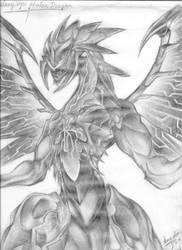 Galaxy Eyes Photon Dragon Sketch by Sora-chan10