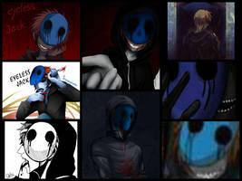 Collage Eyeless Jack by YuliTheKiller