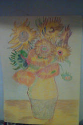 12 Sunflowers by lothairebeaumont