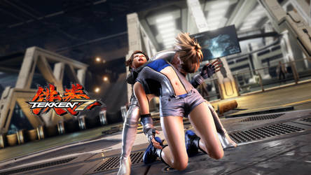 Choked out - Finish of Asuka vs Nina Online Match by Tekken7Wallpapers