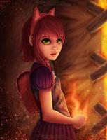 Annie and Tibbers by Saizo-san