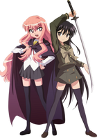 Louise and Shana Vector by MakiseKurisu