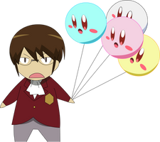 Katsuragi Keima and Kirby by MakiseKurisu