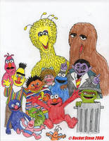 Sesame Street by Rocket-Stevo