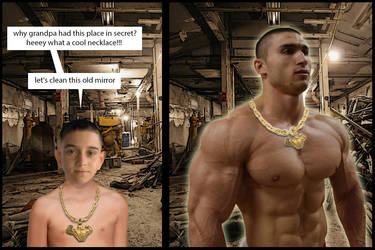 Muscle growth necklace by Salvador503