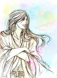 BLEACH:Ukitake by magentana