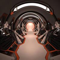 Sci fi Corridor Hallway Interior 3D model free by A-Cermak