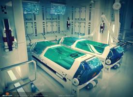 Sci fi Laboratory Interier room 3D Model by A-Cermak