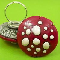Red Mushroom Ring by True-Crimeberry