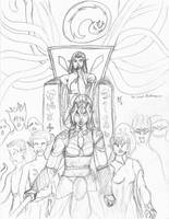 The Drow Pandemonium _rough_ by Pitdragon