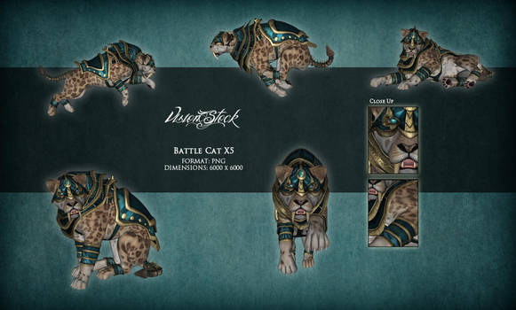 Battle Cat X5 PNG STOCK by Vision-Stock
