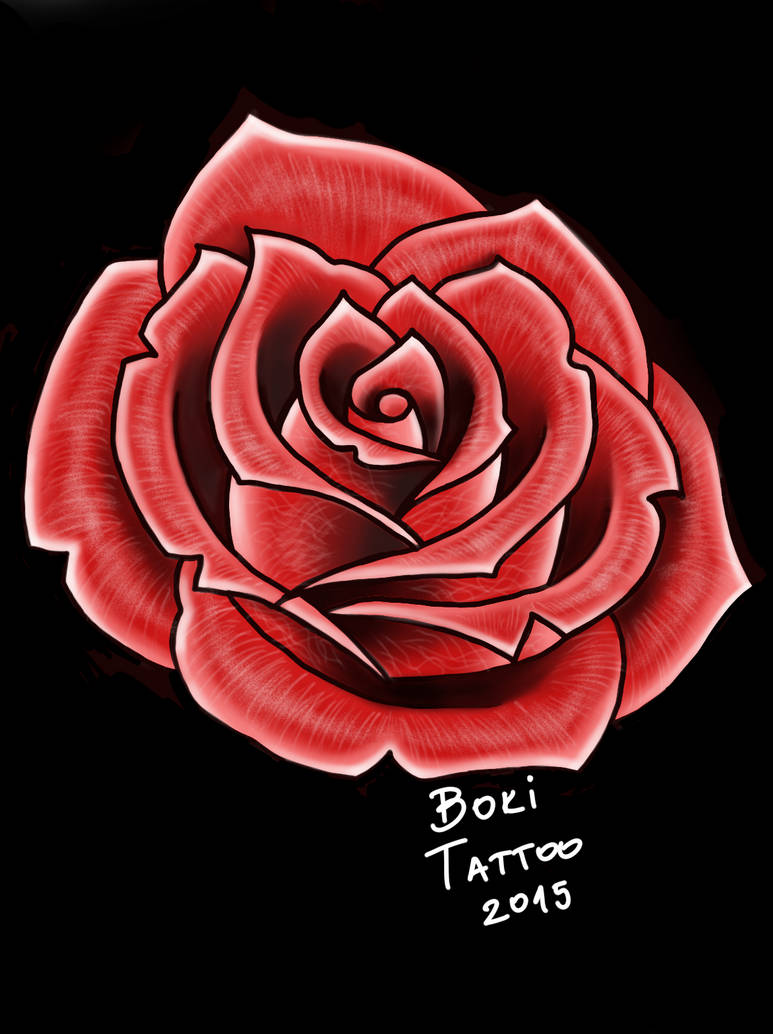 Red Rose Tattoo Design By Bokitattoo On Deviantart