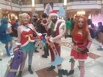 Christmas Leaguers by kerosoldier