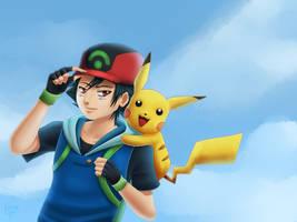 Pokemon: Ash by Quitoxica