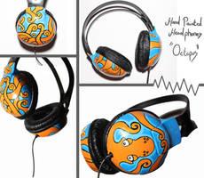 Hand Painted Headphones by MaxMason