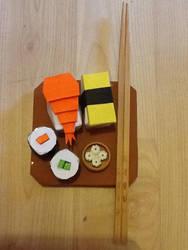 Origami Sushi by JasonChanDraws