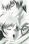 Kanade and Otonashi - Angel Beats! by JasonChanDraws