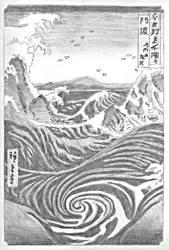 Utagawa Hiroshige - Naruto Whirlpool by JasonChanDraws
