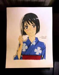 Miyamizu Mitsuha by JasonChanDraws